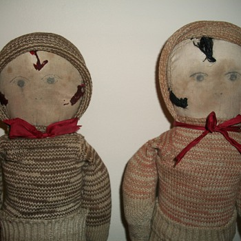 Make Do with Love  Depression Era Folk Art Sock Dolls collection Jim Linderman - Dolls
