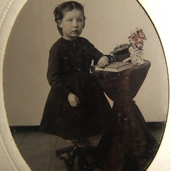 CDV of young child with minimalist tinting