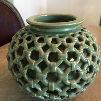 Vase Within a Vase...very nice quality and fascinating...need info