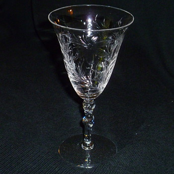 Antique crystal stemware - Glassware