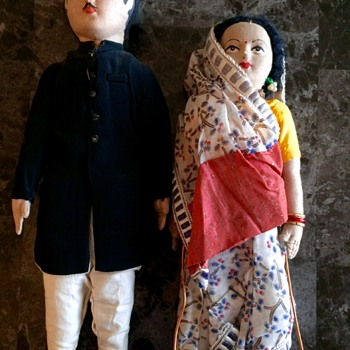 Vintage handmade dolls from India - Dolls