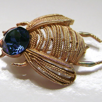 Weiss Insect Brooch  - Costume Jewelry