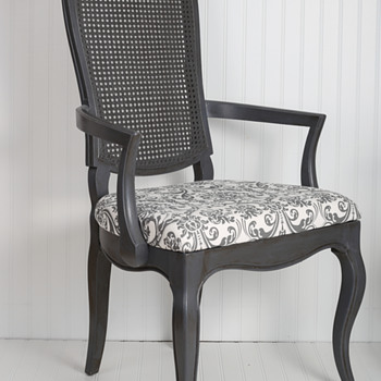 Cane back chair (before and after)