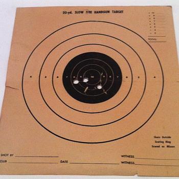 20-yd Slow fire handgun paper target.