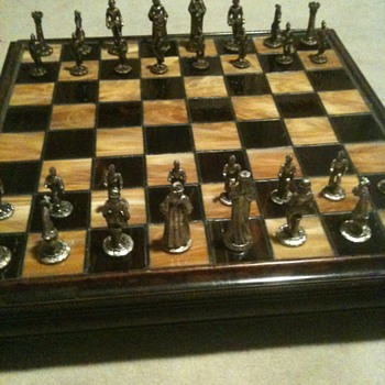 antique chess set - Games