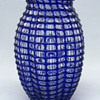 Loetz Cobalt Ausführung 143 Threaded Vase from 1910