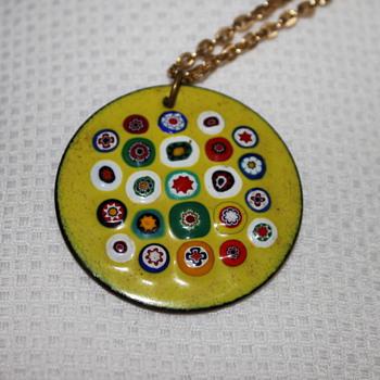 Millefiori Enamel Pendants - Fine Jewelry