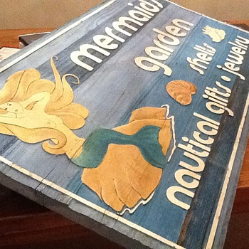 Mermaid Wood Sign - Signs
