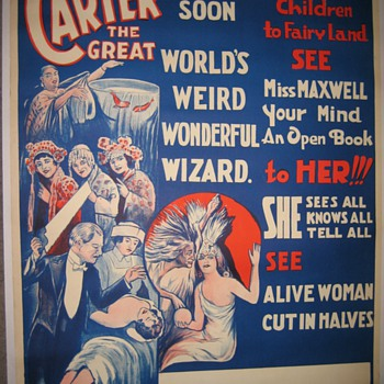 Carter &quot;Coming Soon&quot; Original Stone Lithograph Poster