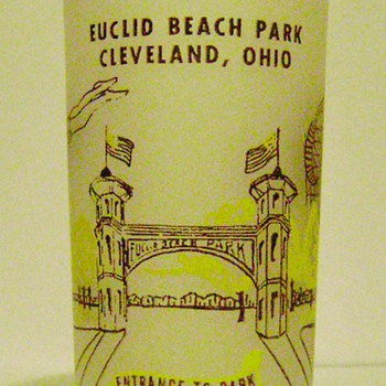 Euclid Beach Park Souvenir Glass