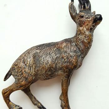 Little chamois, antique Vienna bronze.