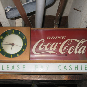 coke mantel style clock