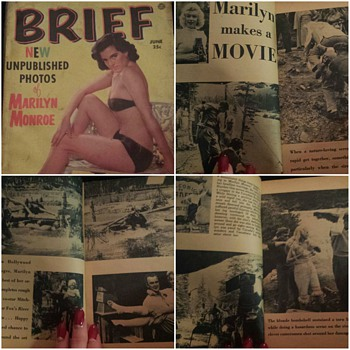 Brief Magazine featuring an article on Marilyn Monroe, during the filming of River Of No Return(1954) - Paper