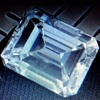THE BELL DIAMOND --- LARRY BELL AND LUCILLE BELL, OF BELL AIRCRAFT COMPANY --- 6.18 CT. DIAMOND --- EMERALD CUT