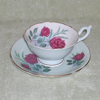 """Heathcote"" Red Roses Cup & Saucer"