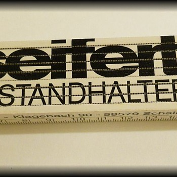 Folding Ruler - Advertising ( German ? )