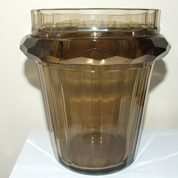 Bohemian ? hand cut glass vase