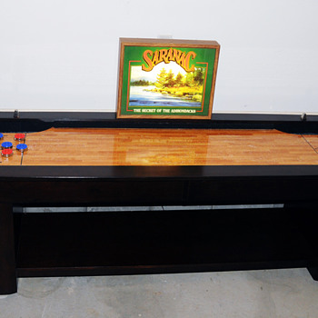 9 Foot Shuffleboard Table & Saranac Lager Beer Light