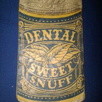Dental Sweet Snuff advertising notepad