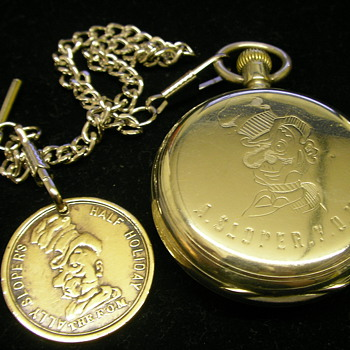Brass Token/Fob - Sloper's Club. Membership no. 20438 [c.1902]. - Pocket Watches