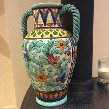 Colourfull French Vase. - Art Pottery