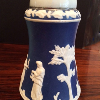 Wedgwood (?) Colbalt Blue Jasperware Sugar Shaker or Salt Shaker