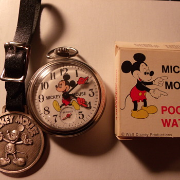 Bradley Mickey Mouse Pocket Watch - Pocket Watches