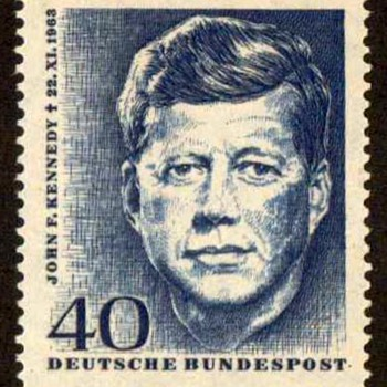 "1964 - German ""John F. Kennedy"" Postage Stamp - Stamps"