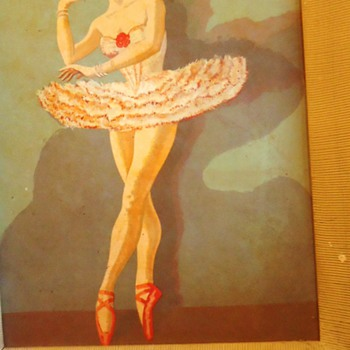 Ballerinas 1950's 60's! Paintings abstract  Carlo???  from Bronx!