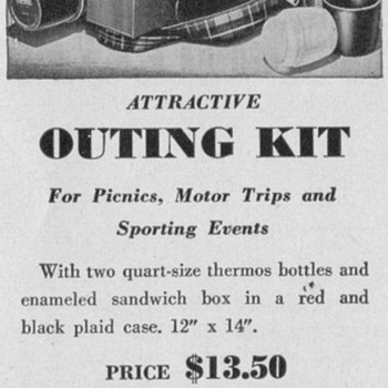 1950 Picnic Kit Advertisement