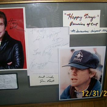 Happy Days Reunion 1996 Autographs at Airport when they were waiting for Limo