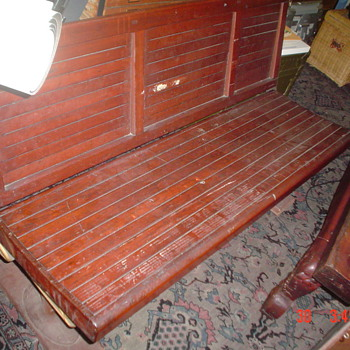 Vintage 1900's Seattle electric trolley side bench - Railroadiana