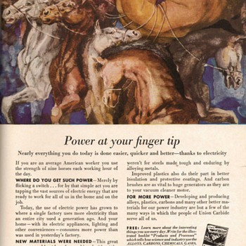 1952 - Union Carbide Advertisements