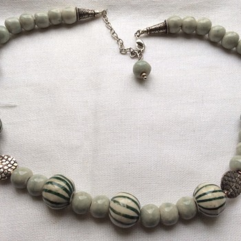 Vintage porcelain necklace