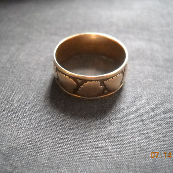 Rose gold wedding band, bible locket