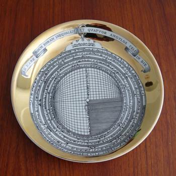 """fornasetti - milano plate: """"astrolabio 5"""""""