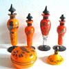 CZECH DECO MARKED AND ENAMELED PERFUME BOTTLES