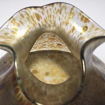 LOETZ CRETA PAPILLION PINCHED SQUAT VASE IRIDESCENT,Circa 1899 - Art Glass