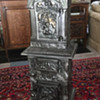 Antique Cast Iron Art Nouveau Parlor Stove. Do you know the maker?