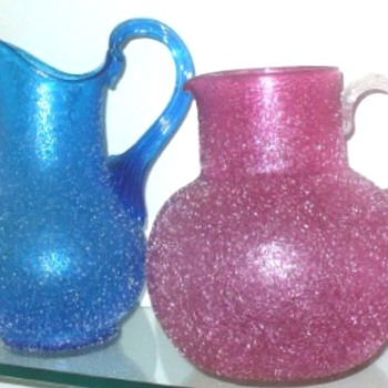 HARRACHOV/KRALIK PITCHERS  - Art Glass