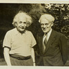 Original Old June 14, 1941, Albert Einstein &amp; Clyde Fisher Princeton New Jersey Photograph Picture