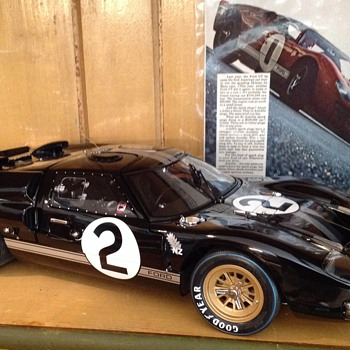 "1966 Ford GT 40 won Le Mans 24 back in 1966 exoto model 1:10 scale. 17"" long."