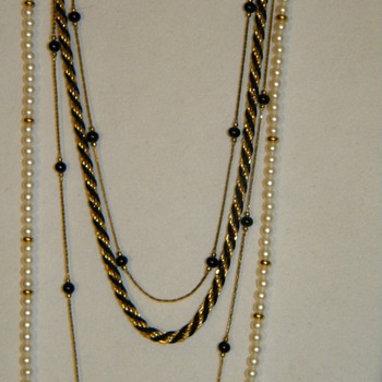 Vintage Monet Beaded Necklaces and Bracelets - Costume Jewelry