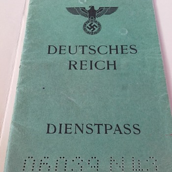 1944 Dienstpass - German Service passport