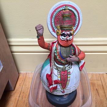 Indonesian Bali dancer  papier-mâché and ceramic