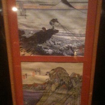 Framed Asian Textiles  Silk 