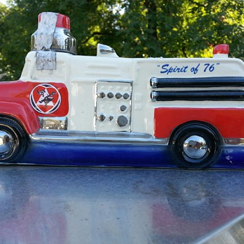 1974 Mooseheart Spirit of 76 Royal Fire Truck Liquor Bottle Decanter - Bottles
