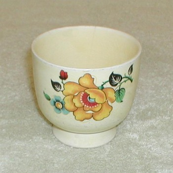 Yellow floral design cup - China and Dinnerware