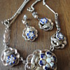 Charming vermeil Biedermeier necklace and earrings