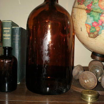 Large Amber Bottle...